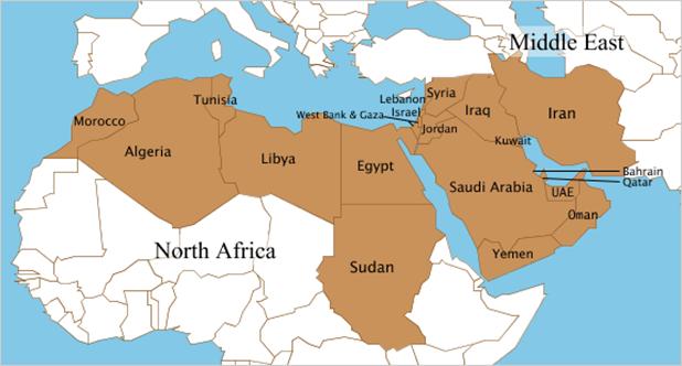 OGEL - MENA - map