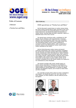 OGEL 1 (2013 - Nuclear Law and Policy