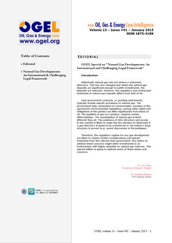 OGEL 1 (2015 - Natural Gas Developments: An International and Challenging Legal Framework