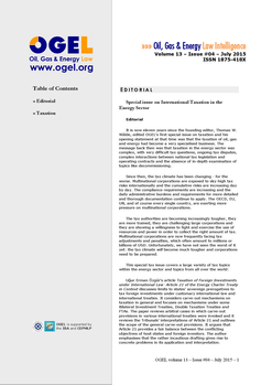 OGEL 4 (2015 - International Taxation in the Energy Sector