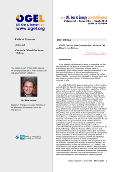 OGEL 2 (2016 - Emerging Issues in Polar Energy Law and Governance