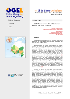 OGEL 1 (2017 - Oil and Gas Law and Policy in West Africa